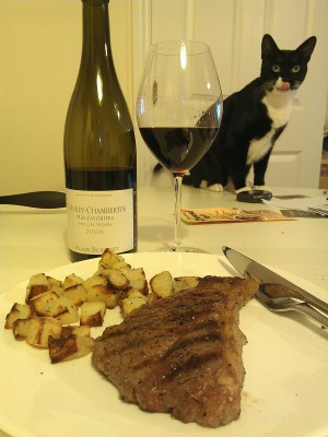 Gevrey, steak and Kisu