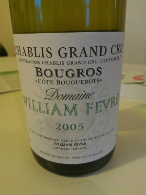 Fevre Chablis Grand Cru Bougros Cote Bouguerots 2005