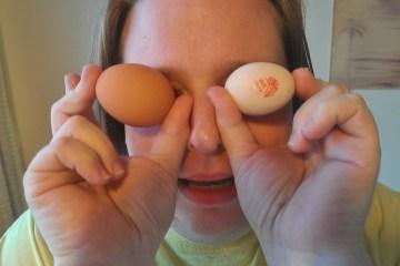 Dani modelling eggs