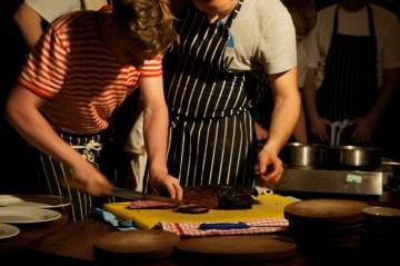 Beef Cartel chuck being sliced