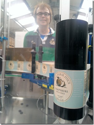 Davy and labelling machine