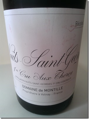 Nuits-Saint-Georges Premier Cru aux Thorey 2006 from de Montille is rubbish!
