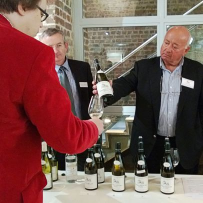 Christian Moreau pours Chablis for Davy