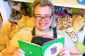Davy reading Little Life