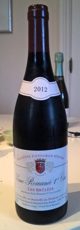 Bruless 2012, Confuron-Gindre bottle
