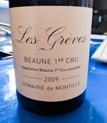 de Montille Beaune 1er Cru Greves 2009