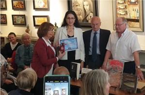 Notre «jdidia» Maria Zaki, vient d'obtenir le Prix Européen Francophone  Charles Carrère 2019 à Paris