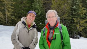 Tom Brown and Roger Carpenter on a snow hike and camp, February 6, 2016,