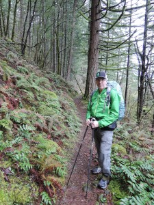 Roger Carpenter on the PCT, March 25, 2016. Photo by Tom Brown.