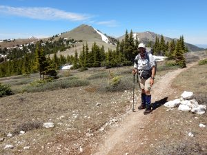 On the CDT about 7 miles south of Monarch Pass.