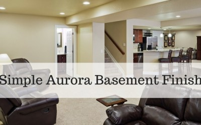 Simple Aurora Basement Finish