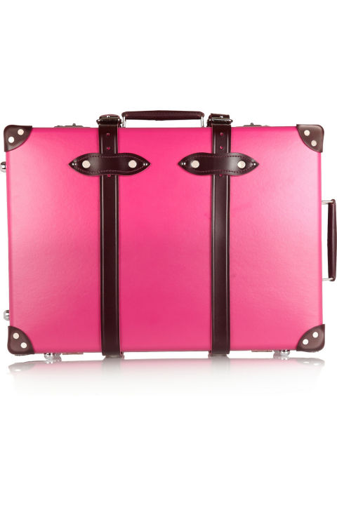 "Globe-Trotter Candy 21"" Leather-Trimmed Fiberboard Travel Trolley, $2,005; net-a-porter.com"