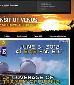 NASA live coverage Venus Transit 2012