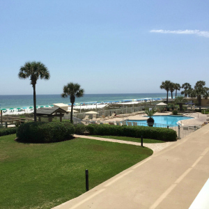 Destin vacation condo rental view from living room