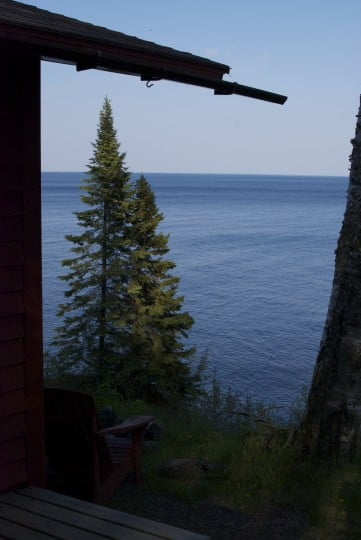 The view from my cabin