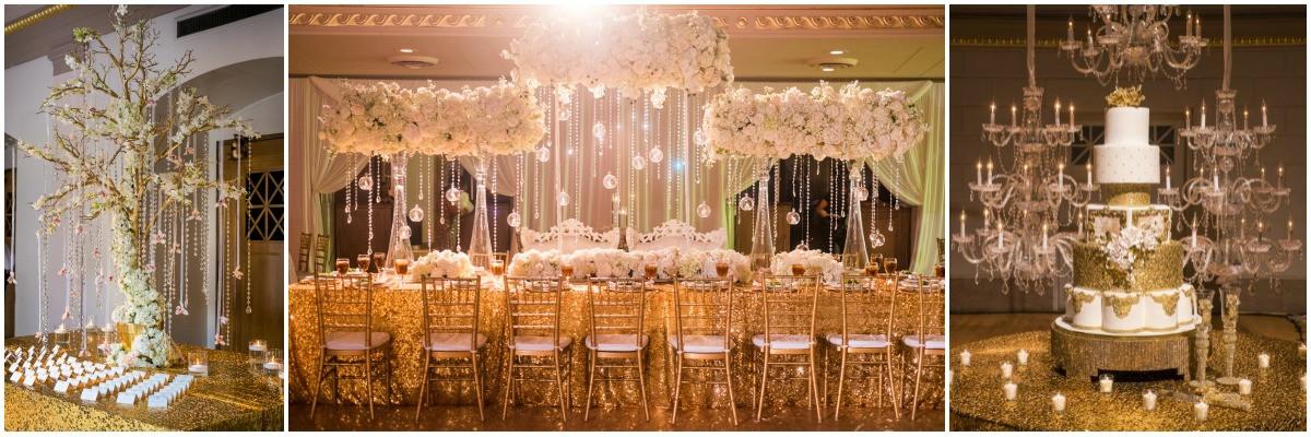 luxury wedding at war memorial, nashville wedding planner , gold and white wedding