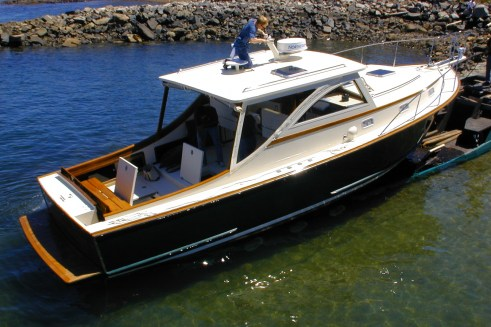 Ellis 36 Express Cruiser service and launch