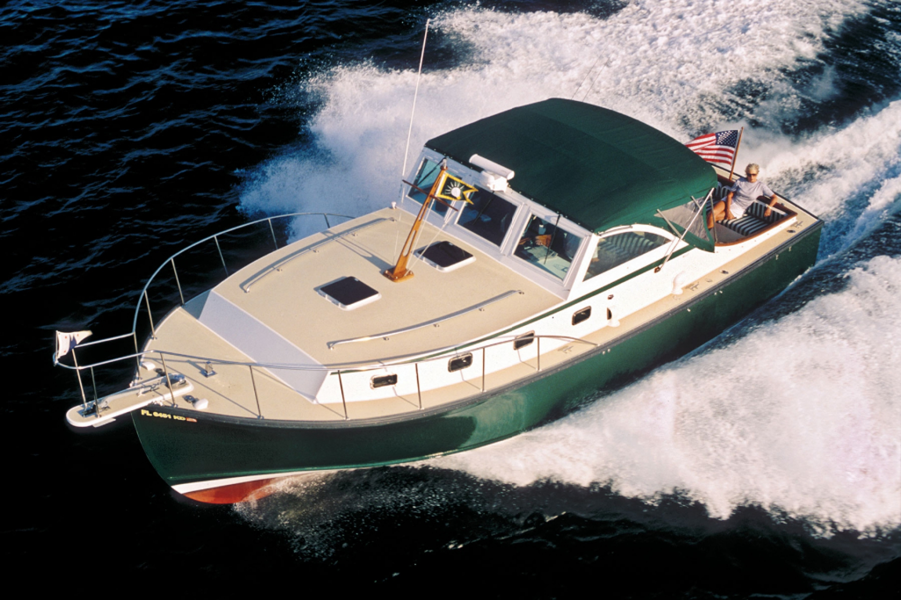 Ellis 36 Express Cruiser Downeast Yacht