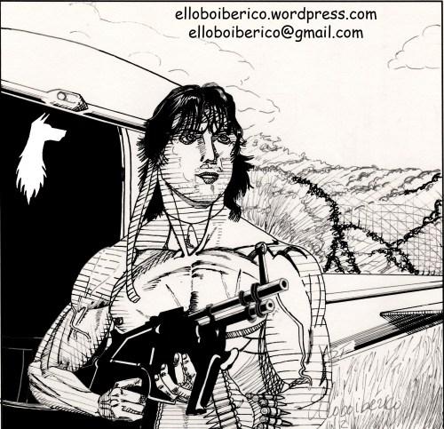 Dibujo final de Rambo