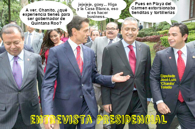 chanito toledo dialoga con el presidente Enrique Peña Nieto