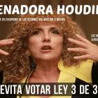 Senadora Houdini le da la espalda a la ley 3 de 3