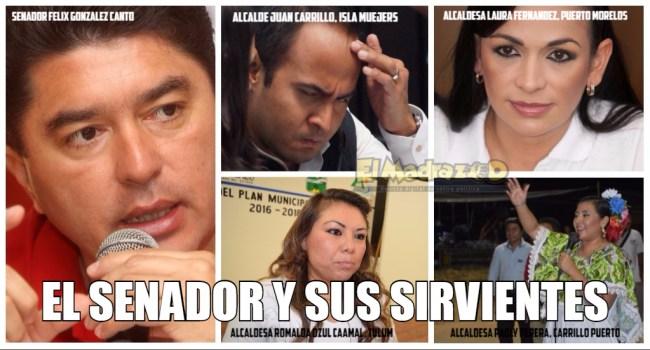 El senador Félix y sus alcaldes lacayos