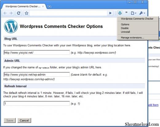Wordpress Comment Notifier