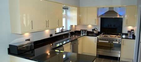 Absolute Black Granite KItchen