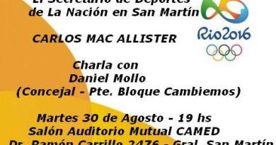 Mac Allister estará con Daniel Mollo en San Martin