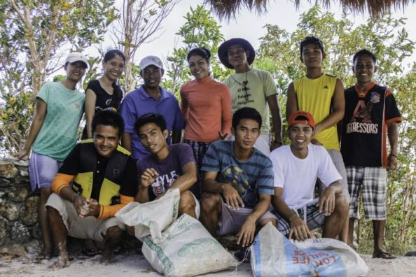 Awesome staff members of Pangulasian Island Resort volunteered to clean up El Nido's beaches during their off-duty hours