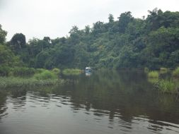 The river where the fishpens are