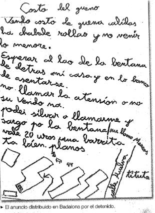 Anunci d'un detingut per vendre costo a Badalona, la transcripció #hoygan