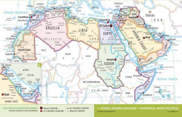Mapa politico oriente medio