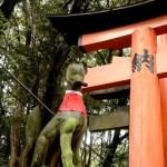 Fotos del Fushimi Inari de Kioto, zorro Inari