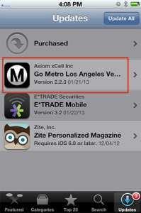 -Actualización del iPhone