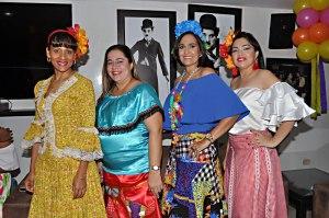 Miriam Monsalvo, Pilar Soto, Andrea Pumarejo y Milena Pinto.