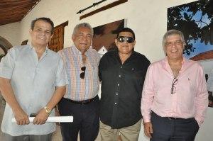 Ricardo Gutiérrez, Rafael Amaris, Tomás Alfonso 'Poncho' Zuleta y Ramón Dávila, gerente general de Gases del Caribe.