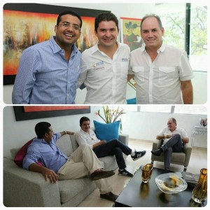 Augusto Daniel Ramírez Uhía, Luis Felipe Henao y Francisco Ovalle Angarita.