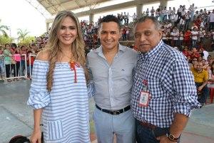 Rosa Elvira Ustariz, Jorge Celedón y Enrique Noguera.