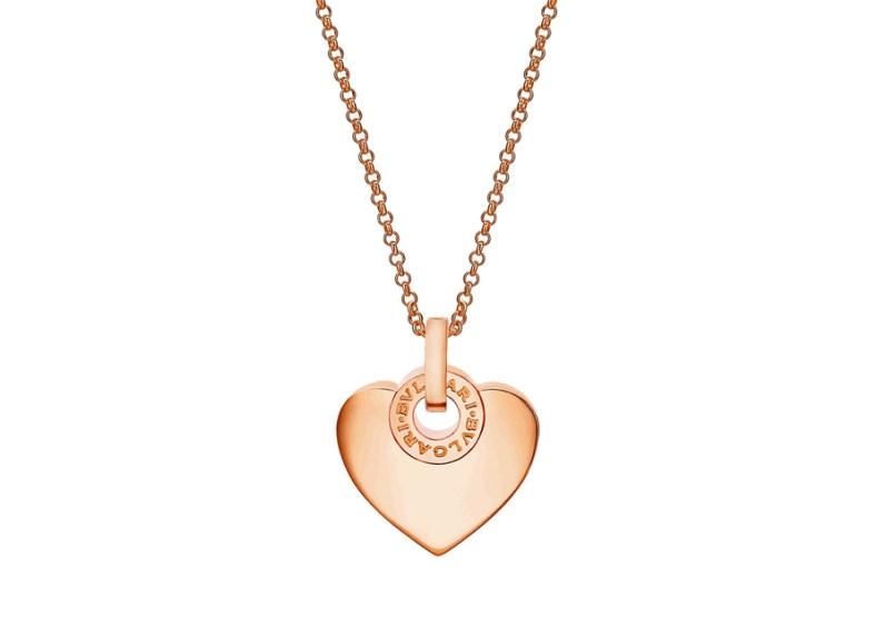 COLGANTE BVLGARI CUORE con cadena en oro rosa de 18 quilates.
