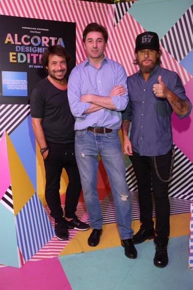 Ricky Sarkany, Chelo Canton y Federico Bonomi en el Alcorta Designers Edition