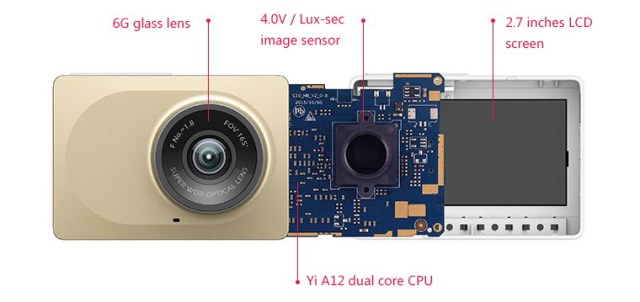 Xiaomi YI dash camera Hardware