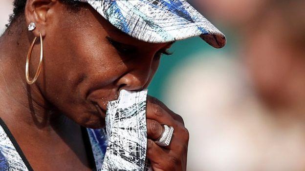 Venus Williams, destrozada por accidente en que está involucrada