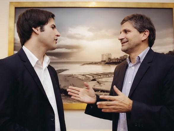 Ariel Cholo Ciano y Leonel Rossanigo
