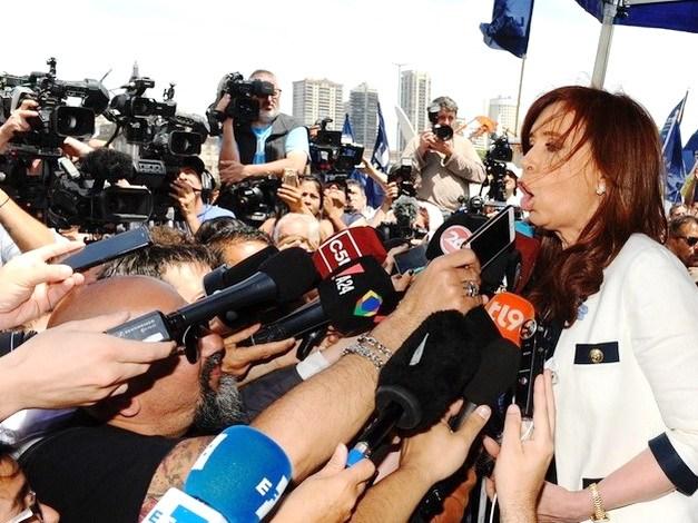 26/10/2017 Cristina Fernández de Kirchner se retira de Tribunales de Comodoro Py. FOTO PEDRO LÁZARO FERNANDEz