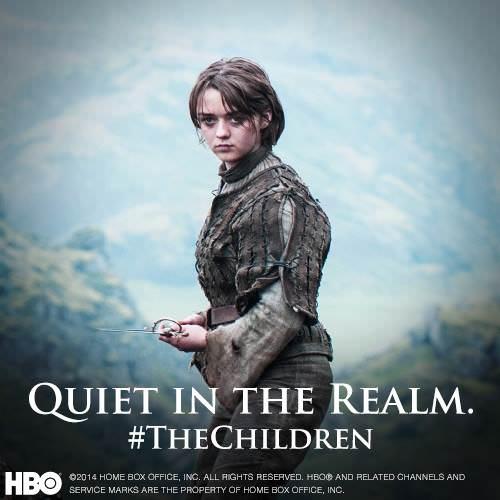 Arya Stark camino a Braavos en el Juego de Tronos 4x10 The Children