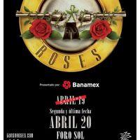 Guns and Roses en el Foro Sol 19 y 20 de Abril