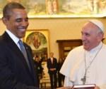 Barack Obama y el papa Francisco,