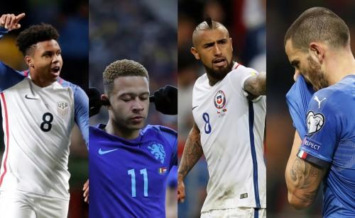 Un mundial sin Estados Unidos, Holanda, Chile e Italia.