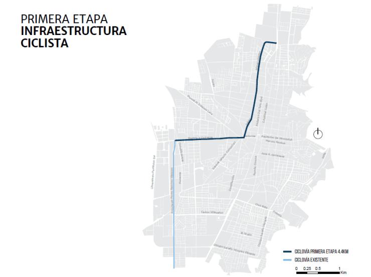 Primera etapa de infraestructura ciclista